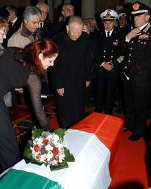 Il Presidente Ciampi rende omaggio alle vittime al Vittoriano