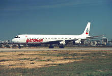 Nationair DC-8-61 C-GMXQ FAO 1989.png