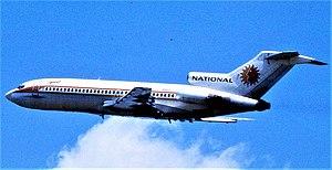 English: National Airlines (NA) B-727 N4611, w...