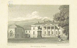 Hackwood Park - Hackwood Park, 1818, as altered by Lewis Wyatt