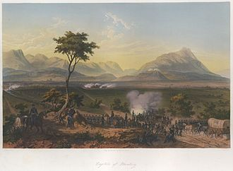 The Battle of Monterrey September 20-24, 1846, after a painting by Carl Nebel Nebel Mexican War 02 Capture of Monterrey.jpg