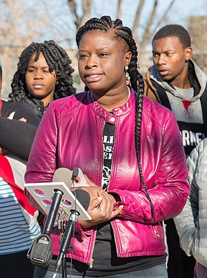 Nekima Levy-Pounds - Levy-Pounds in 2015 at a press conference regarding the death of Jamar Clark