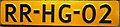 Netherlands licenseplate old yellow.JPG