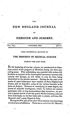 New England Journal of Medicine (January 1, 1814 - front page).jpg