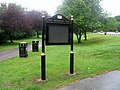 Newly erected notice board in War Memorial Park - geograph.org.uk - 852937.jpg