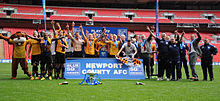 Newport County Conference National play-off winners 2013.jpg
