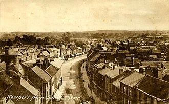 Newport, Shropshire - Newport from church tower
