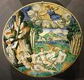 Ngv, maiolica di urbino, piatto con diana e atteone, 1545 circa.jpg