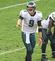 alt=Description de l'image Nick Foles calling play in 2012.jpg.