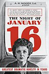 Flyer for the Broadway production of Night of January 16th