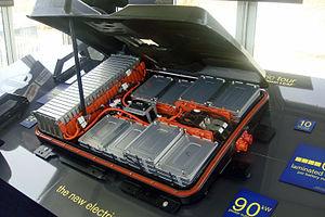 Automotive Energy Supply Corporation - Image: Nissan Leaf battery pack DC 03 2011 1629