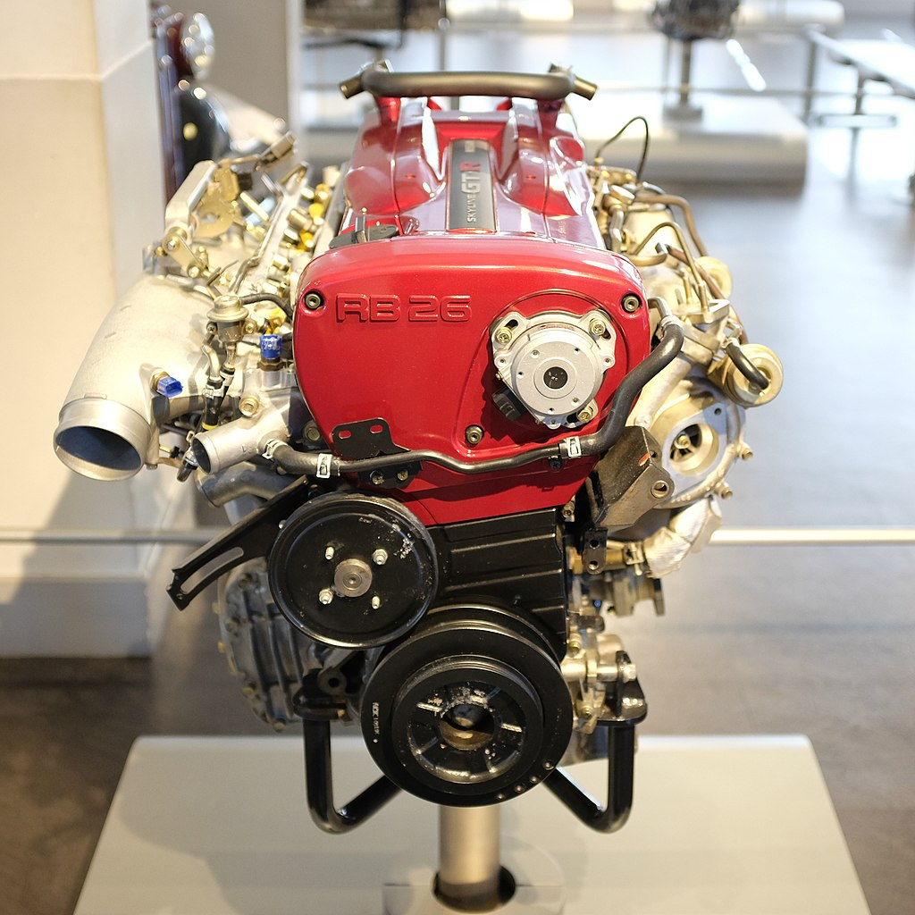 [Afbeelding: 1024px-Nissan_RB26DETT_Engine_-_Front.jpg]