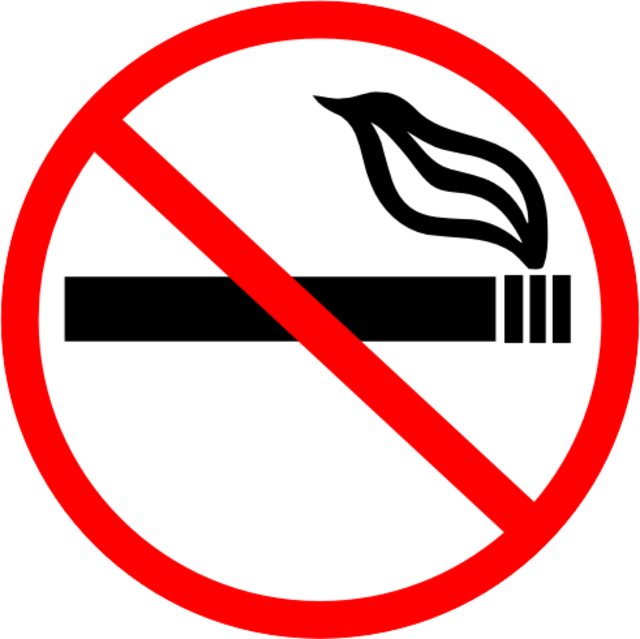 From commons.wikimedia.org: No smoking symbol {MID-147624}