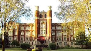 Monroe, Michigan - The Hall of the Divine Child, now the Norman Towers senior citizens residence, was a boarding school in Monroe from 1918–1980.