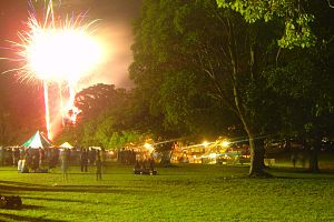 North Ryde, New South Wales - Fireworks at North Ryde Commons