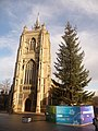 Norwich, St. Peter Mancroft tower and the Christmas tree - geograph.org.uk - 1604991.jpg