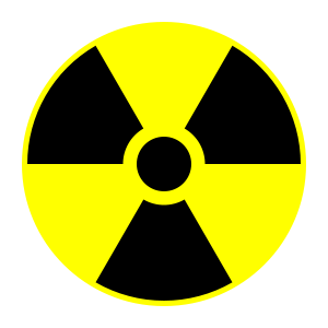 Radiation sign for maps
