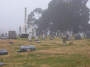 Haywood County, Tennessee - Trinity Cemetery in Nutbush provides a final resting place for more than 50 Civil War soldiers. (2007)
