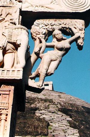 Salabhanjika - Shalabhanjika on Eastern Torana (gateway), Sanchi Stupa