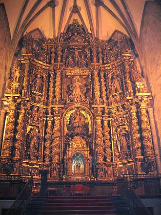 Oñati - Altar of San Miguel Church, Oñati.