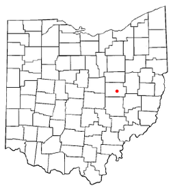 Location of Coshocton, Ohio