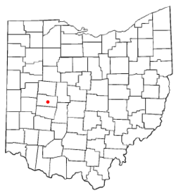 Location of Urbana, Ohio