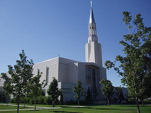 Ogden Utah Temple - Ogden Stake Tabernacle, Ogden, Utah prior to removal of tower.