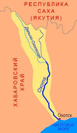 Okhota River - Map of Ohota River Basin