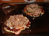 Okonomiyaki - shrimp and cheese okonomiyaki.jpg