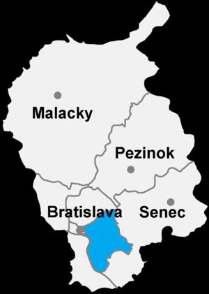 Bratislava 2 - Image: Okres bratislava II