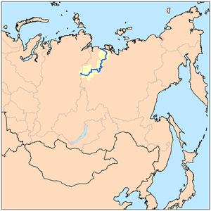 Olenyok River - The Olenyok River drainage basin
