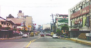 A view of downtown Olongapo City in the Philip...