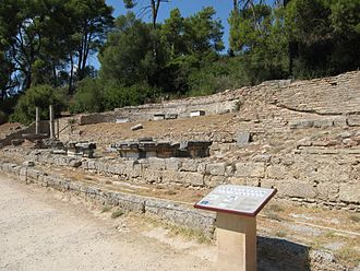 Aspasia Annia Regilla - The nymphaeum of Herodes Atticus and Regilla in Olympia, Greece