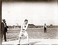 Olympic Games- Etienne Desmarteau, Montreal Athletic Association, throwing the 56 lb. weight at the 1904 Olympics.jpg