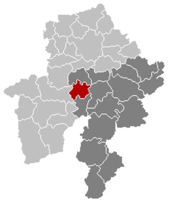 Onhaye - Image: Onhaye Namur Belgium Map