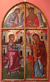 Onufri cipriota, porta di iconostasi con annunciazione, XVI-XVII secolo, da berat.JPG
