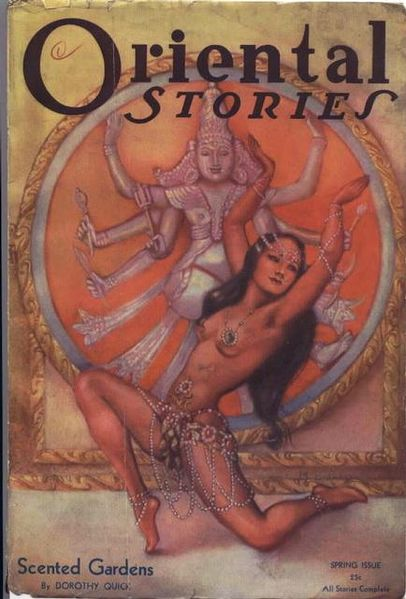 Oriental stories magazine cover