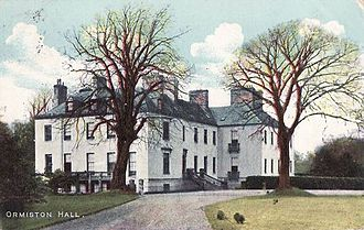 Ormiston - Ormiston Hall, prior to the fire which left it in ruins