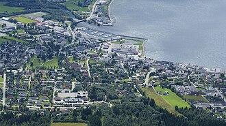 Ørsta - Ørsta seen from Vallahornet