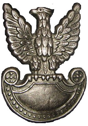 "Polish People's Army - Emblem worn by LWP soldiers;  the ""Piast eagle"" without the crown"