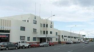 Toitū Otago Settlers Museum - The transport wing, formerly Dunedin's New Zealand Railways Bus Station.