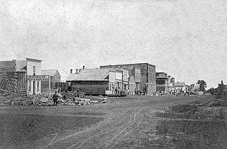 Ottawa, Kansas - Main Street, circa 1865-1900
