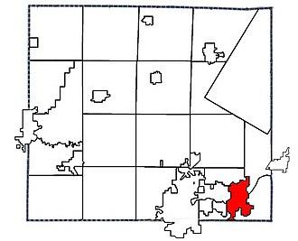 Kaukauna, Wisconsin - Image: Outagamie County Wisconsin Municipal Boundarieswithcityof Kaukaunahighlighted