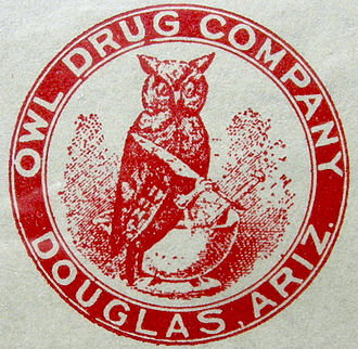 The Owl Drug Company - 1917 logo