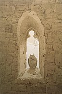 Owl in a Gothic Window by Caspar David Friedrich.jpg