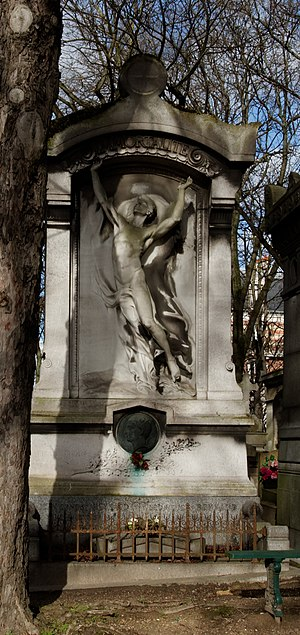 Jean Reynaud - Reynaud's grave in Père Lachaise Cemetery, Paris, with sculpture by Henri Chapu