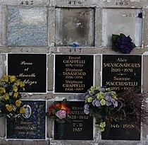 Père-Lachaise - Division 87 - Columbarium 381-462 - Grappelli 01.jpg
