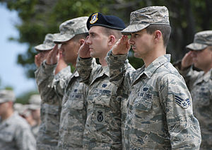 324th Intelligence Squadron - A squadron airmen participates in a memorial service with other airmen at Joint Base Pearl Harbor-Hickam