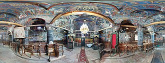 Mustafa Arapi - Panorama of Interior of the Church of Saint Michael which was restored by Arapi