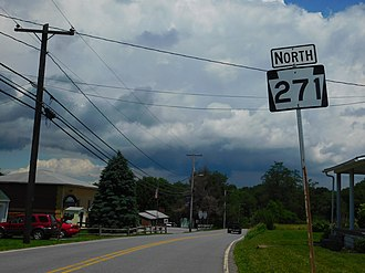 Pennsylvania Route 271 - PA 271 north in Belsano